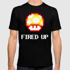 FIRED UP Mens Fitted Tee Black SMALL