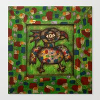 The Green Parrot Canvas Print