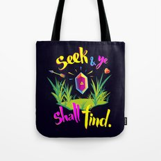 Legend of Zelda Seek and Ye Shall Find Tote Bag