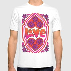 Psychedelic Love Mens Fitted Tee White SMALL