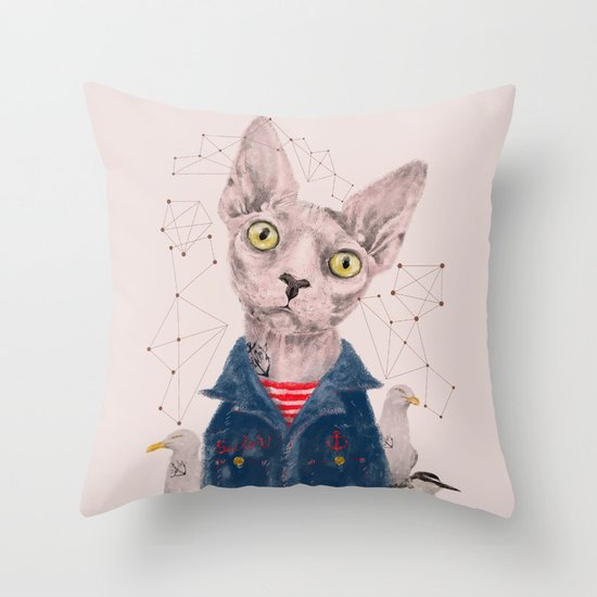 The Gangster Throw Pillow