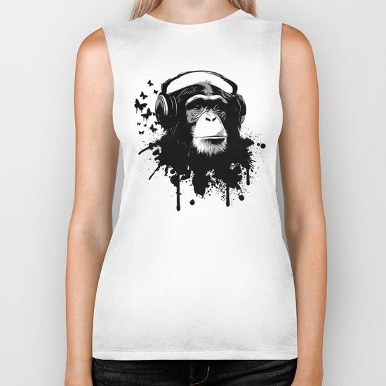 Monkey Business - White Biker Tank