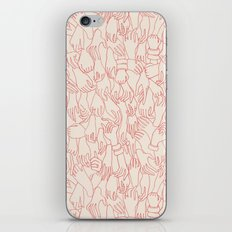 A Plethora of Relaxed Hands in Pink iPhone & iPod Skin