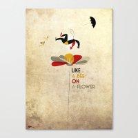 Like a bee on a flower Canvas Print