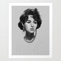 Monica Bellucci Art Print