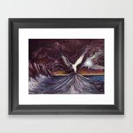 Yeni Dünya Martıları Framed Art Print