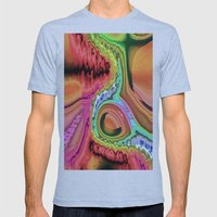 Desert Cave at Night A Mens Fitted Tee Athletic Blue SMALL