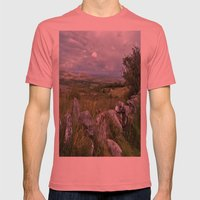 Slowly the Landscape Changes.... Mens Fitted Tee Pomegranate SMALL