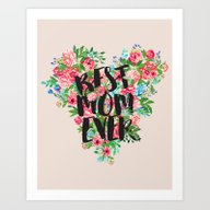 Art Print featuring Best MOM Ever by Sara Eshak