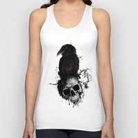 Raven and Skull Unisex Tank Top