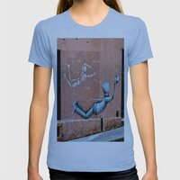The Floating Man Womens Fitted Tee Athletic Blue SMALL