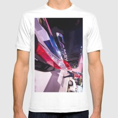 Toyota Camry Brand Logo White SMALL Mens Fitted Tee