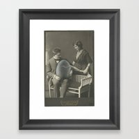 Hand Painted Cabinet Pho… Framed Art Print