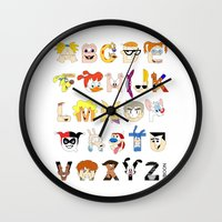 Child Of The 90s Alphabe… Wall Clock