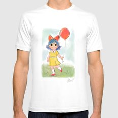 balloon makes a day SMALL White Mens Fitted Tee