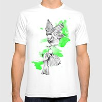 Green Birdies Mens Fitted Tee White SMALL
