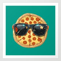 Cool Pizza Art Print