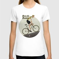 Tour De France Womens Fitted Tee White SMALL