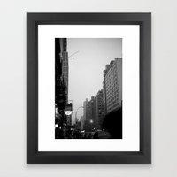 New York City In The Rai… Framed Art Print