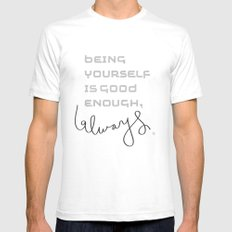 being yourself Mens Fitted Tee SMALL White