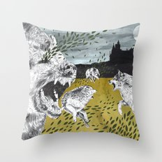 Ring of Wolves Throw Pillow