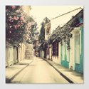Just like a dream street (Retro and Vintage Urban, architecture photography) Canvas Print