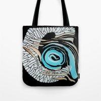 Horn-swirl Inv Tote Bag