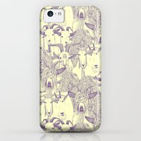 iPhone 5c Cases featuring just goats purple cream by Sharon Turner