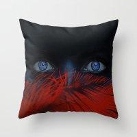 blue eyes behind Throw Pillow