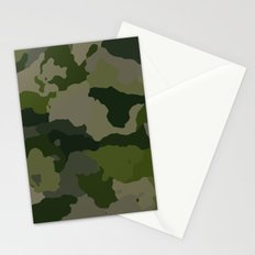 Shades of Green Camo Stationery Cards