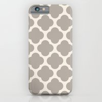 iPhone & iPod Case featuring gray clover by Beverly LeFevre