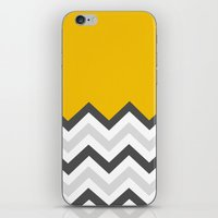 Color Blocked Chevron 17 iPhone & iPod Skin
