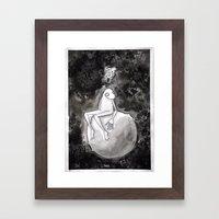 Omino Luna be alone Framed Art Print