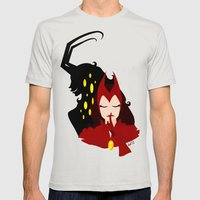Mischief from Shadows (Lady Loki as Scarlet Witch) Mens Fitted Tee Silver SMALL