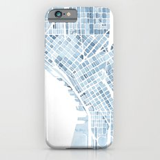 Map Seattle Washington Blueprint watercolor map Slim Case iPhone 6s