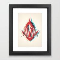 Piranha Girl Framed Art Print