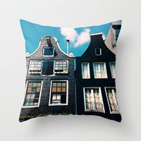 oh those houses ^_^  Throw Pillow