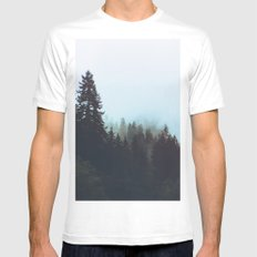 Washington Woodlands Mens Fitted Tee SMALL White