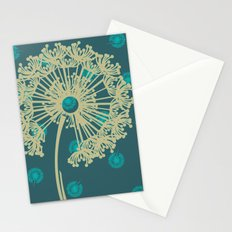 DANDELIONS TURQUOISE Stationery Cards