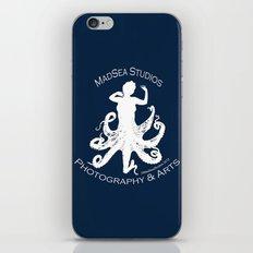 MadSea Nymph, white on blue iPhone & iPod Skin