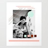 E.T. Collage Art Print
