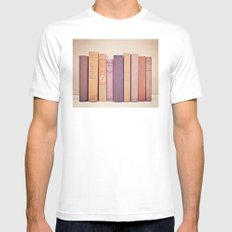 Literary Gems II Mens Fitted Tee SMALL White