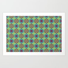 Retro Modern Flower Power Art Print
