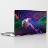 Jellyfish In Roaring Wav… Laptop & iPad Skin