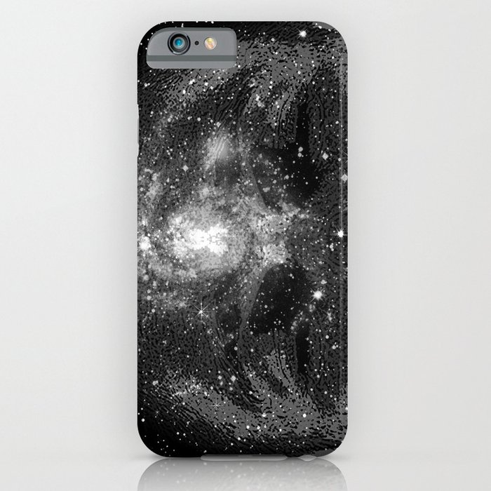 space black and white galaxy stars iphone case