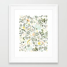 Spring at the Farmhouse Framed Art Print
