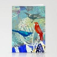Birds in the backyard. Stationery Cards