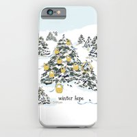 iPhone & iPod Case featuring WINTER hope by KarenHarveyCox