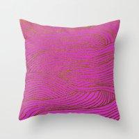 Wind Hot Pink Gold Throw Pillow