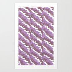 Purple Pattern Print Art Print